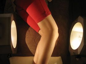 膝痛の治療:光線療法.JPG
