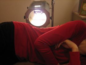 腰痛治療:光線療法.JPG